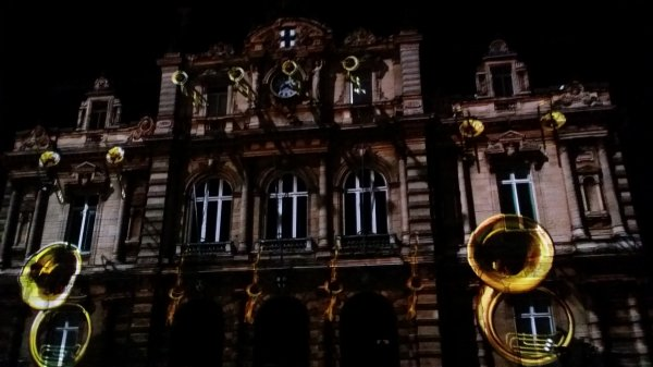 Mapping sur la façade de la marie de Tourcoing  9/01/2016