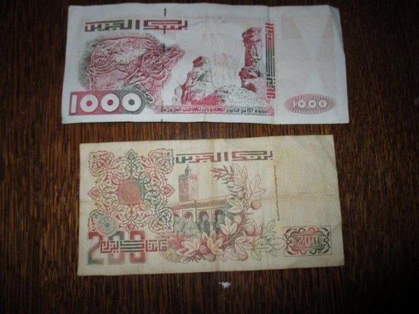 mais billets algerien