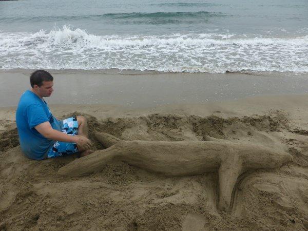 dans mon plus grand art de sculture sur sable lol