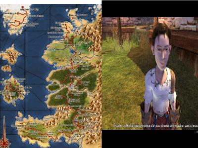 Vous (Enfant) et la carte de l'Albion
