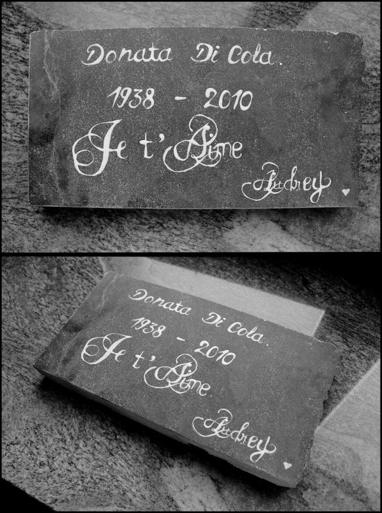 Pour la tombe de ma Nonna ♥