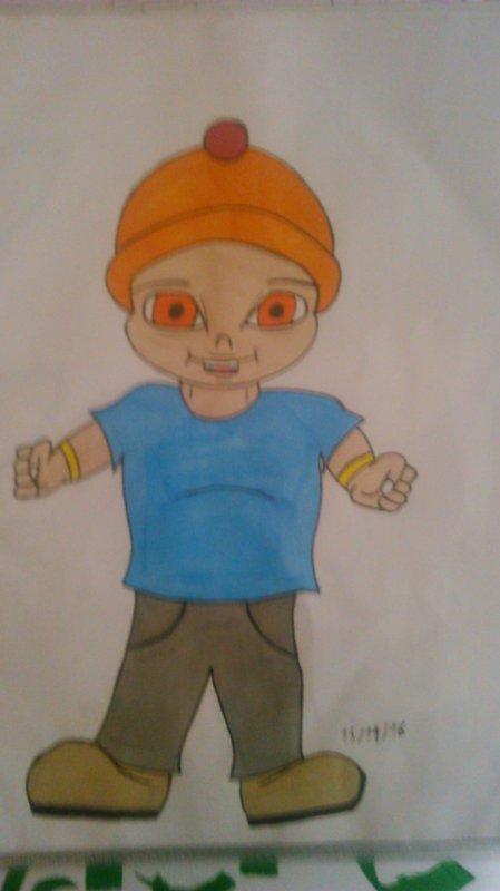 dessin gars bonnet