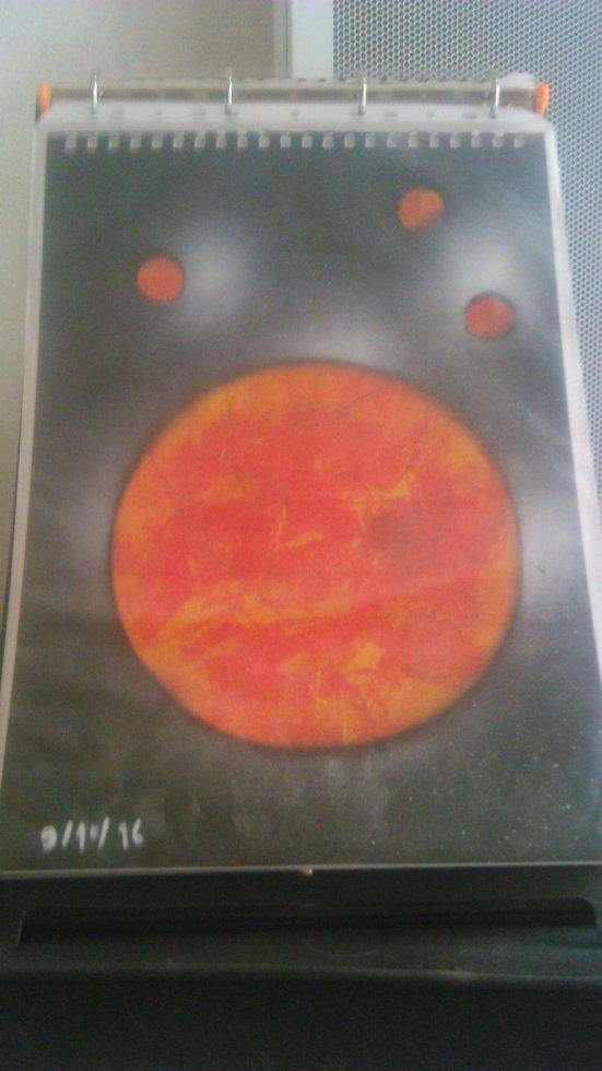 peinture planete