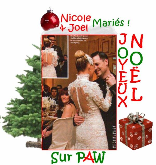Nicole Richie et Joel Madden se sont mariés après quatre ans de vie commune et 2 enfants, Harlow & Sparrow ! I Love It ! Nicole était splendide avec sa robe qu'elle a en parti dessiné !