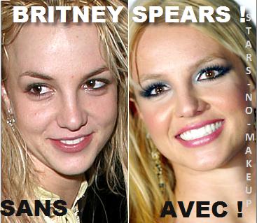 Britney Spears Stars Sans Maquillage