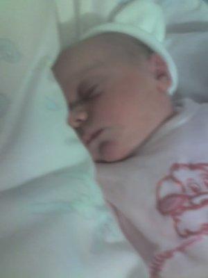 savanah notre fille juste apres sa naissance