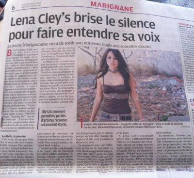 """Lena Cley's dans """"La Provence"""" du  20 Février 2012"""