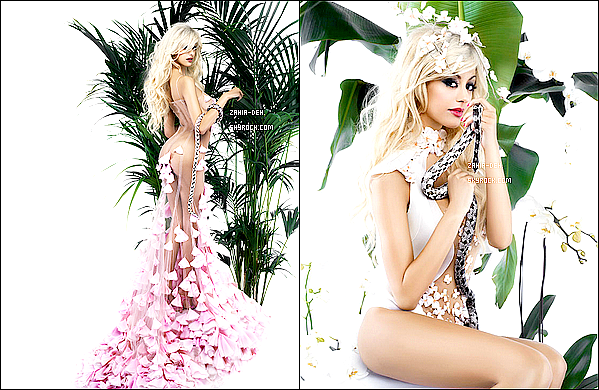 888888 Photoshoot ▬ Année 2012. Zahia qui pose pour Karl Lagerfeld.   888888