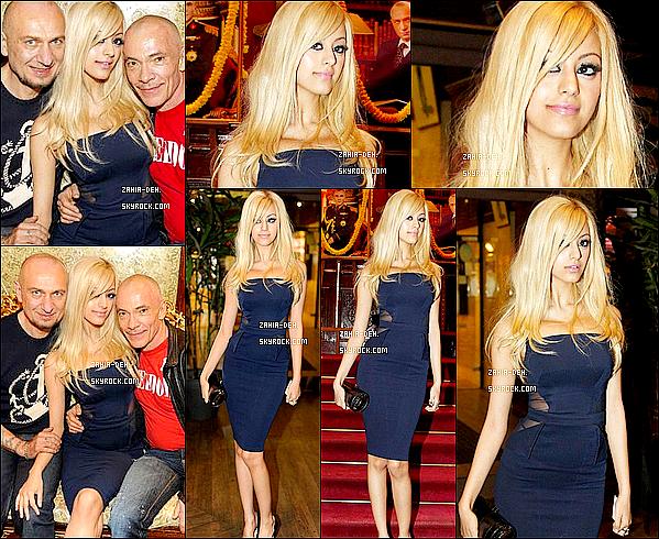 888888 Apparition ▬ 29 Mars 2012. Zahia a un dîner en l'honneur de Pierre et Gilles à Paris.  888888