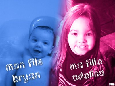 mon fils bryan et ma fille adelina