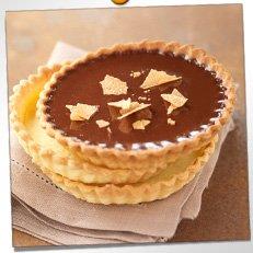 Tartelettes fondantes aux chocolat/ caramel