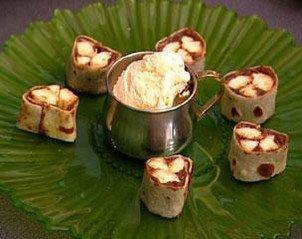 Makis de crêpes aux bananes et aux chocolat