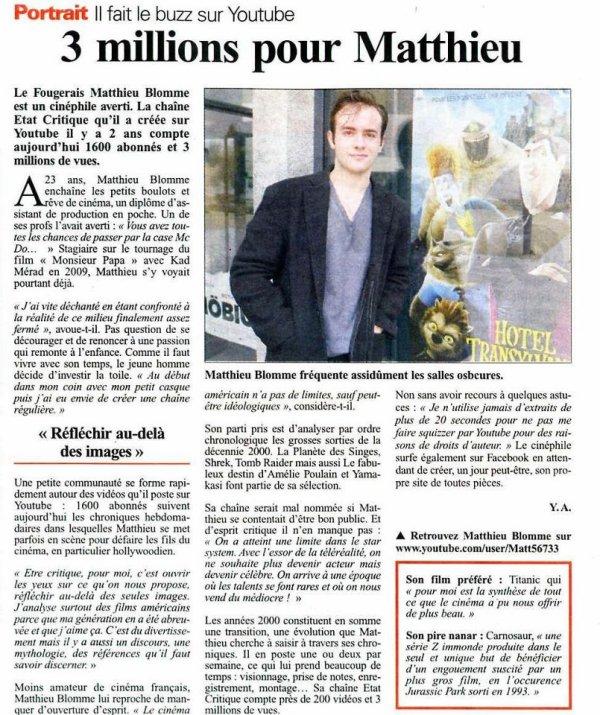 Matt d'Etat Critique, site officiel sur Skyrock !!!!
