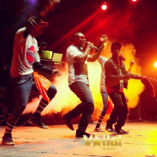 Maby tshupec & Marcus x, accompagné de deux danser du groupe Warriors