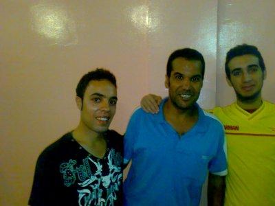 moi et Khalid Vec un acteur marocain