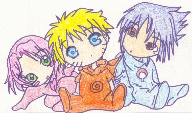 Sakura naruto et sasuke b b s les dessins d 39 une auteur - Coloriage de naruto et sakura ...