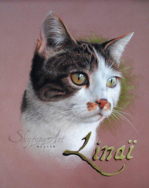 Portrait pastel de Linaï