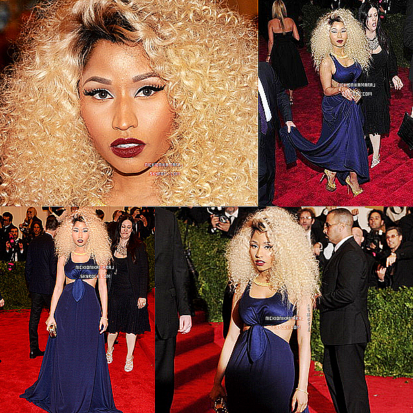 . 6th May  - Nicki Minaj s'est rendu au MET GALA thème PUNK en robe bleue TOMMY HILFIGER à NY + 4 photos personnelles de Nicki avec Alicia Keys, Jennifer Lopez et la Team Minaj NY. .