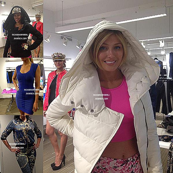 """. 7th May  - Nicki travaille sa ligne de vêtement """"The Nicki Minaj Collection""""  + une photo de Nicki et SB.    Alors mes chéris,  vous en pensez quoi de la collection, vous aimez ?."""