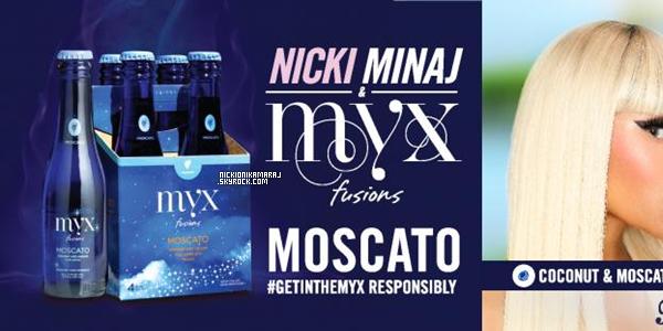 . NOUVEAUTES EN VRAC :- Voici la première image de I'm Out feat. Ciara. Hier -3 juin-, Nicki a tourné le clip de son remix sur la chanson Twerk It de Busta Rhymes (Voici le son original), c'était l'une des surprises qu'elles nous disait. Alors? Vous imaginez Nicki posé son verse sur ce son? Voici deux nouvelles photos en avant-première des boissons alcoolisés MYX de Nicki .
