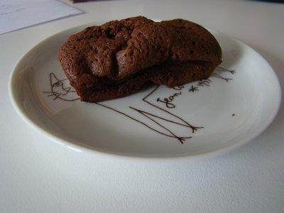 Fondant au chocolat et noisettes
