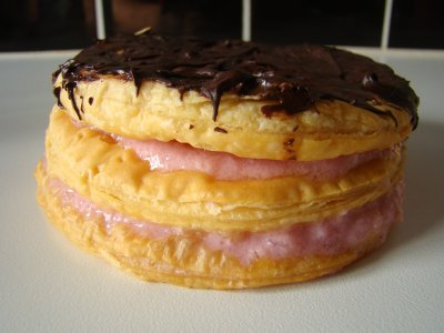 Mille-feuille framboise-chocolat
