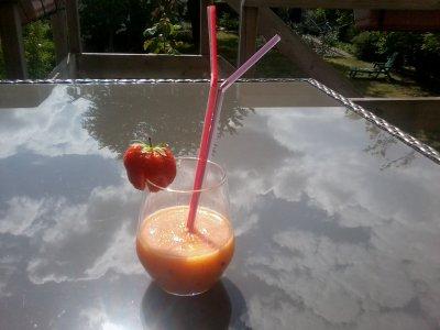 Cocktail de fruits orange