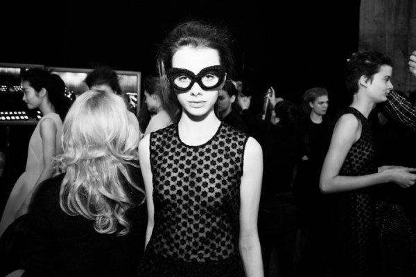 Backstage Simone Rocha fall 2013/2014.
