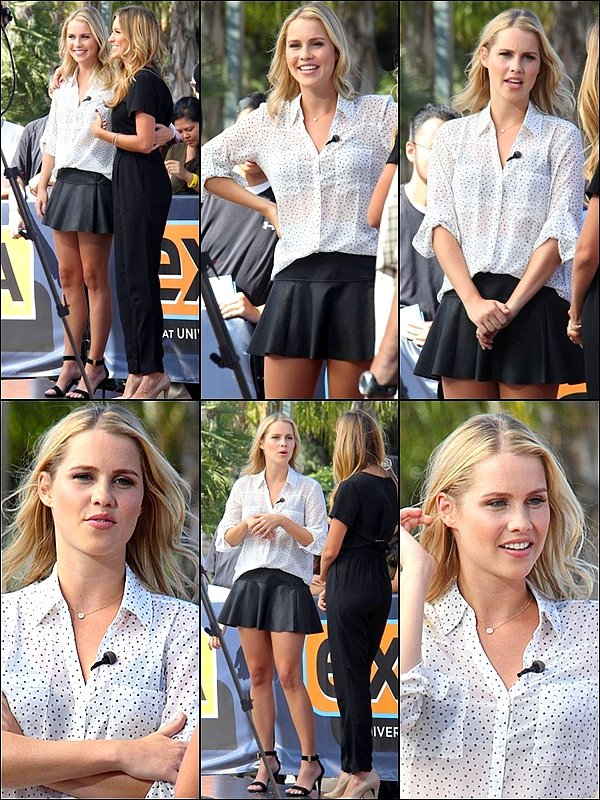 . 07/10 Claire était sur le set d'un interview pour Extra. .
