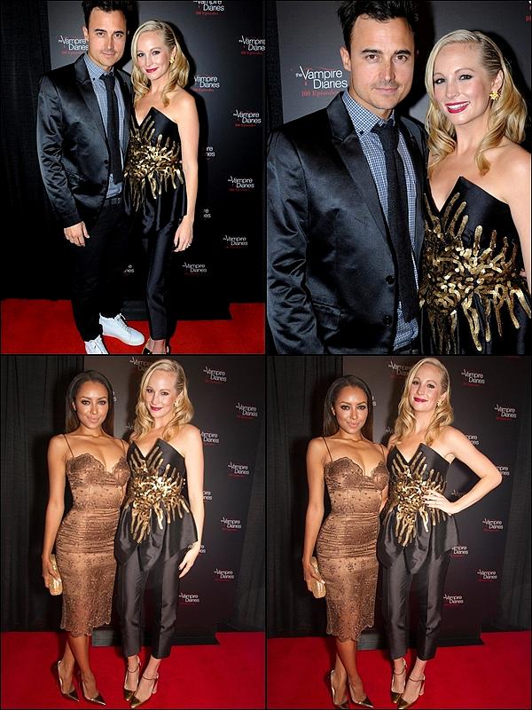 .  09/11 Nina et Candice étaient à la célébration de l'épisode 100 de The Vampire Diaries avec tout le cast ! .