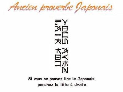 Voici un ancien proverbe japonnais =)