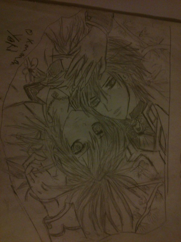 mon dessin de yuuki et kaname