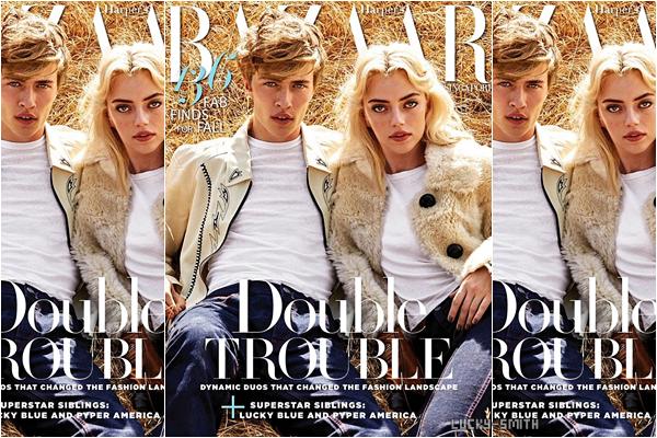 Lucky et sa s½ur Pyper pour le magazine Glamour España :