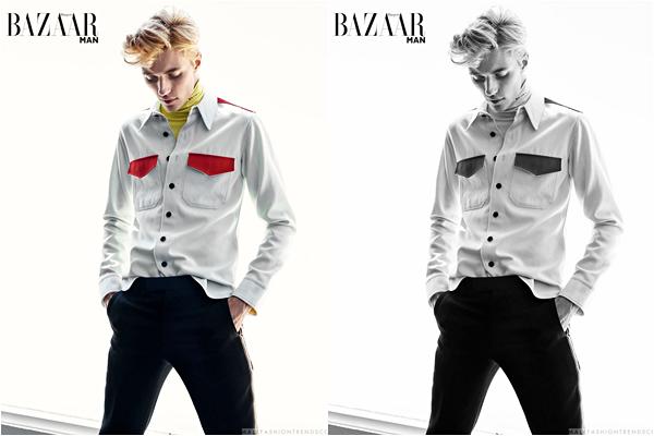 Lucky pour Harper's Bazaar Man :