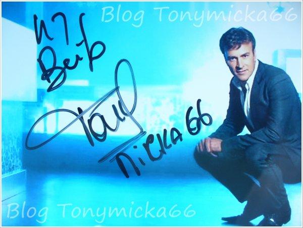 Blog Tonymicka66: Autógrafo do Tony :)