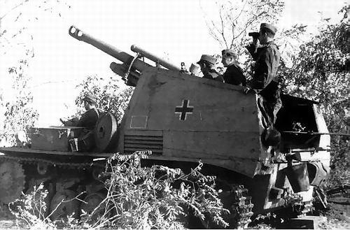 LE Sd. Kfz.124 ( Wespe ) le canon automoteur  (suite)