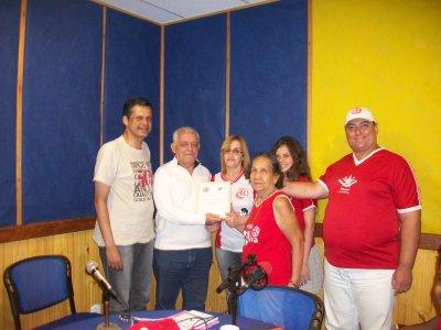 Presidentes do America Football Club, unidos em prol do Clube, ex-Reginaldo Mathias e atual-Vinicius Cordeiro
