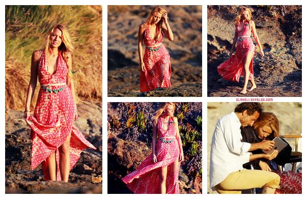 12/09/11 : Blake tournant une scène de Savages sur l'une des belles plages de LA.