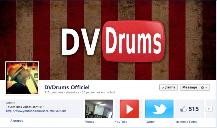 FACEBOOK : DVDrums Officiel