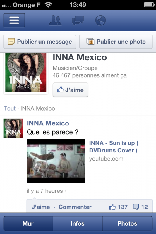 "Merci "" Inna Mexico """