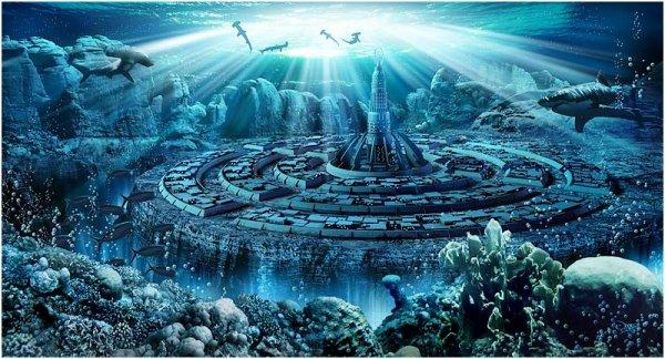 La mythique cité de l'Atlantide