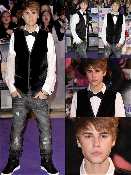 16/02/11 - Justin B. était présent à l'avant-première de « Justin Bieber : Never Say Never », à Londres !
