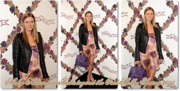 ** 15 Septembre _  Nicky pose dans les coulisses du spectacle Odd Molly / Printemps de la mode 2011 **
