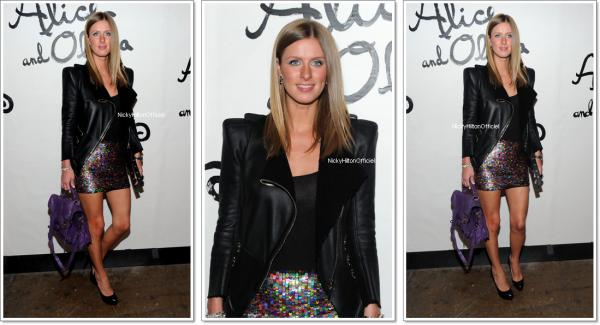 ** 14 Septembre _  Nicky a participe à la Alice + Olivia collection / printemps 2011 **