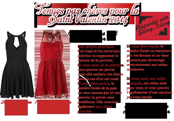 Tenues pas chère pour la Saint Valentin 2014
