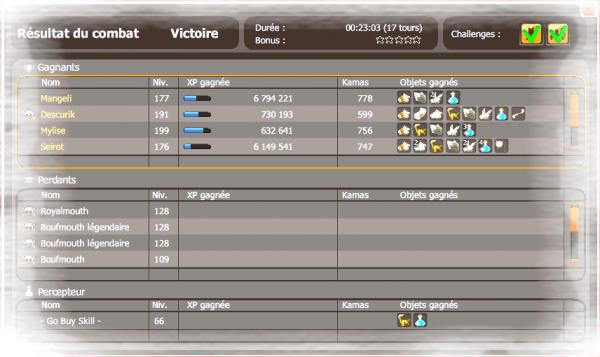 Niveau/stuff/screen team/Xp/Bonus !