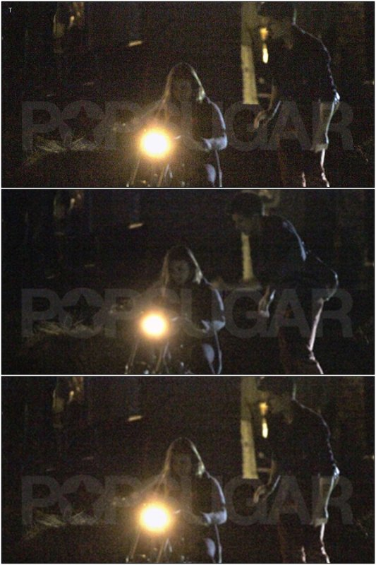 09/04/11 Exclu : Taylor & Lily Collins aux 21 ans de Kristen Stewart . Taylor l'aide à faire de sa moto.