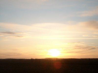 Dégradation au coucher du soleil