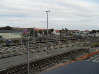 Gare d'Etaples, entrée d'une rame