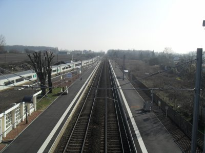 Gare de Rang-du-Fliers, vue passerelle